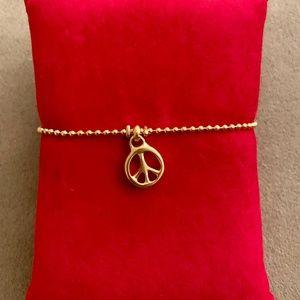 "NWT UNO de 50 Gold-Plated Bracelet ""Peace"" PUL1301"